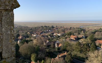 Climbing Blakeney Church Tower