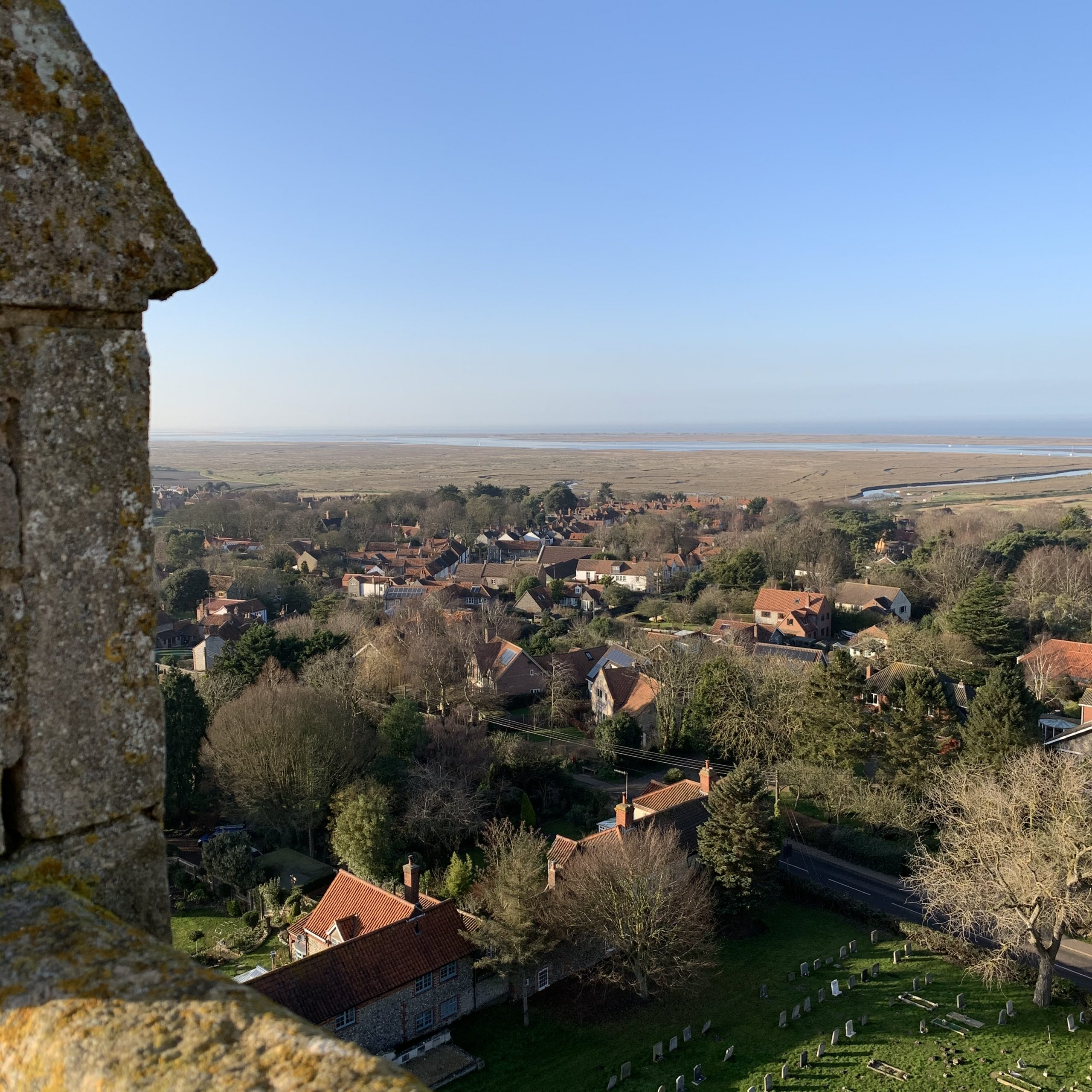 The view from Blakeney church tower